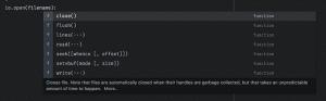 Автодополнение и документация по стандартным lua библиотекам
